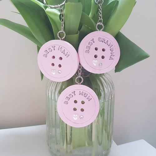 Button Keyrings